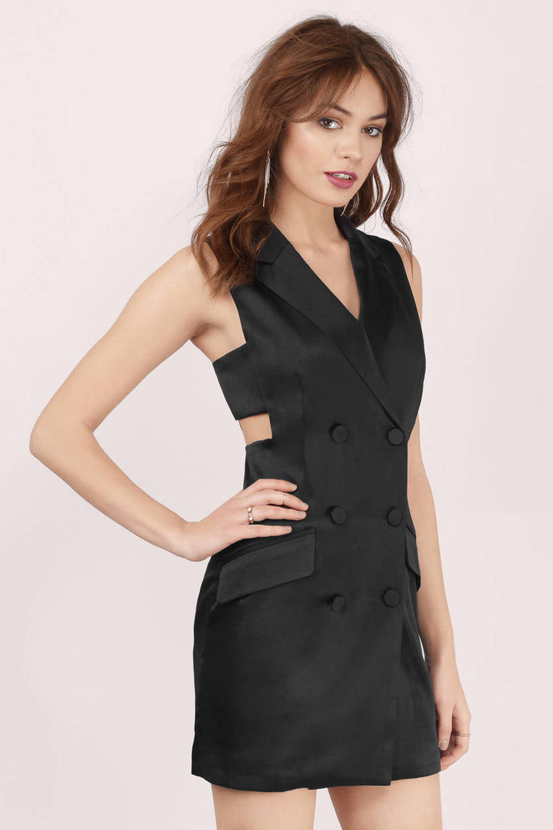 Raise The Bar Black Satin Bodycon Dress