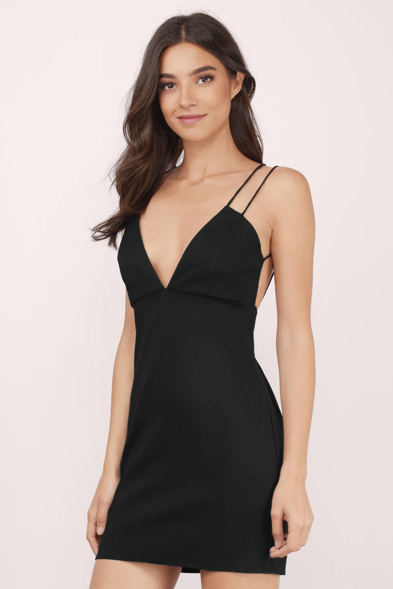 Ready For A Selfie Black Bodycon Dress