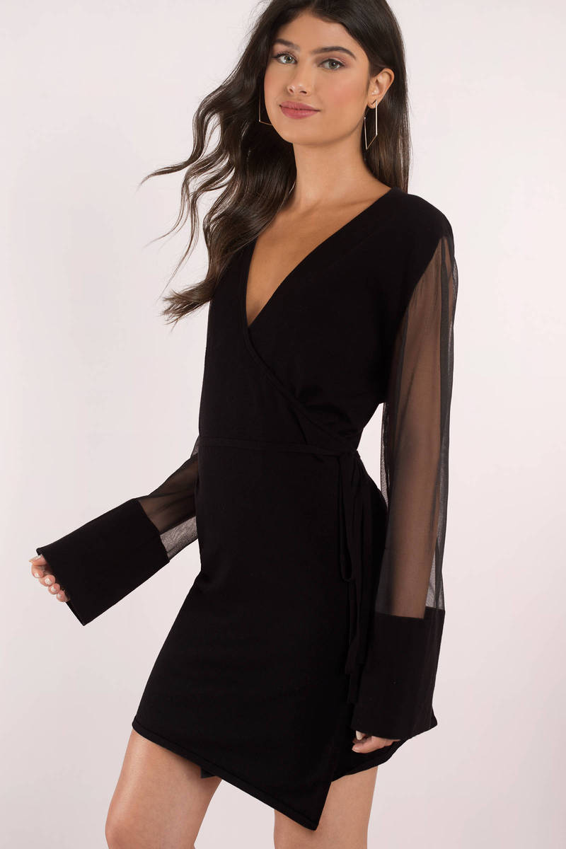 Finders Keepers Finders Keepers Reality Black Wrap Knit Dress