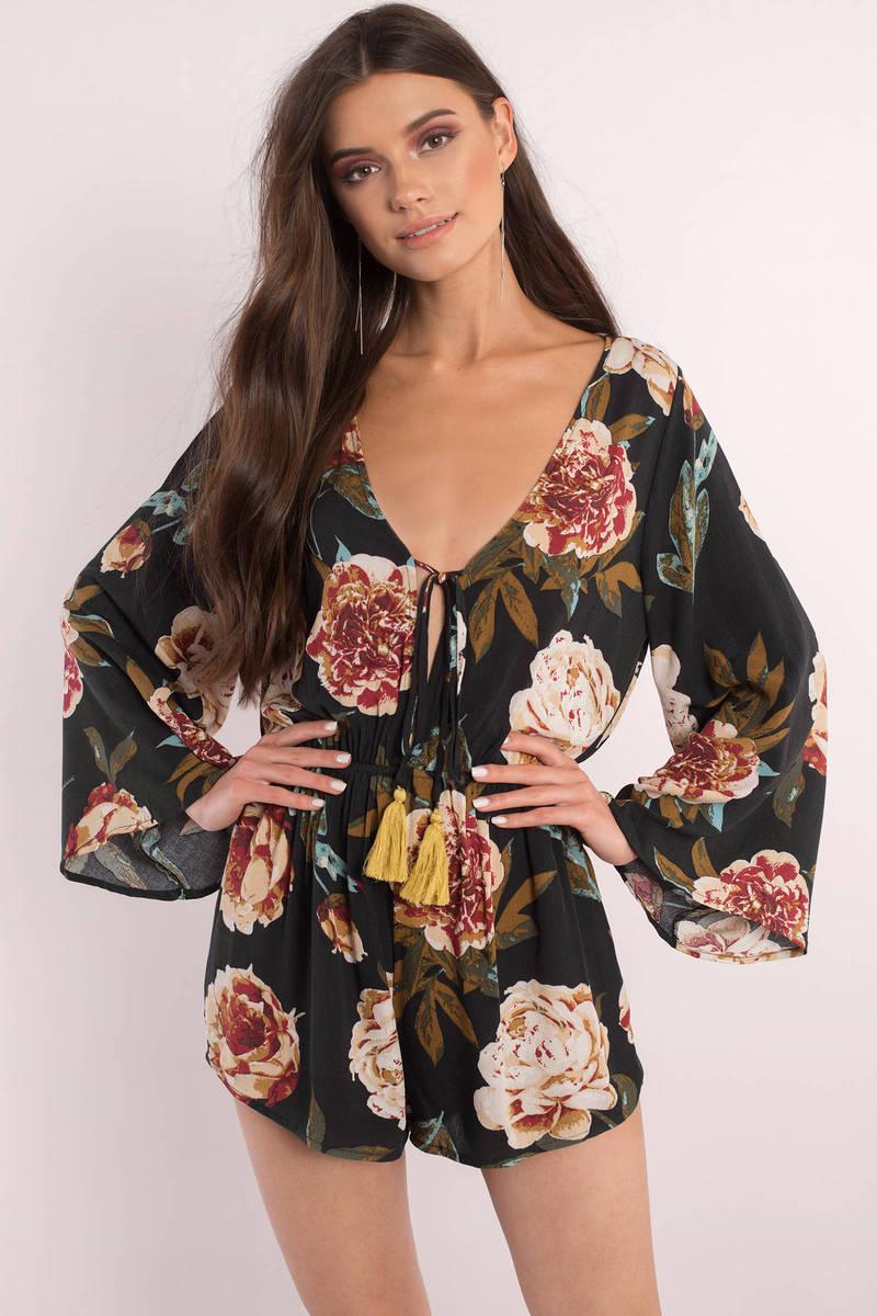 Rebecca Black Floral Print Romper