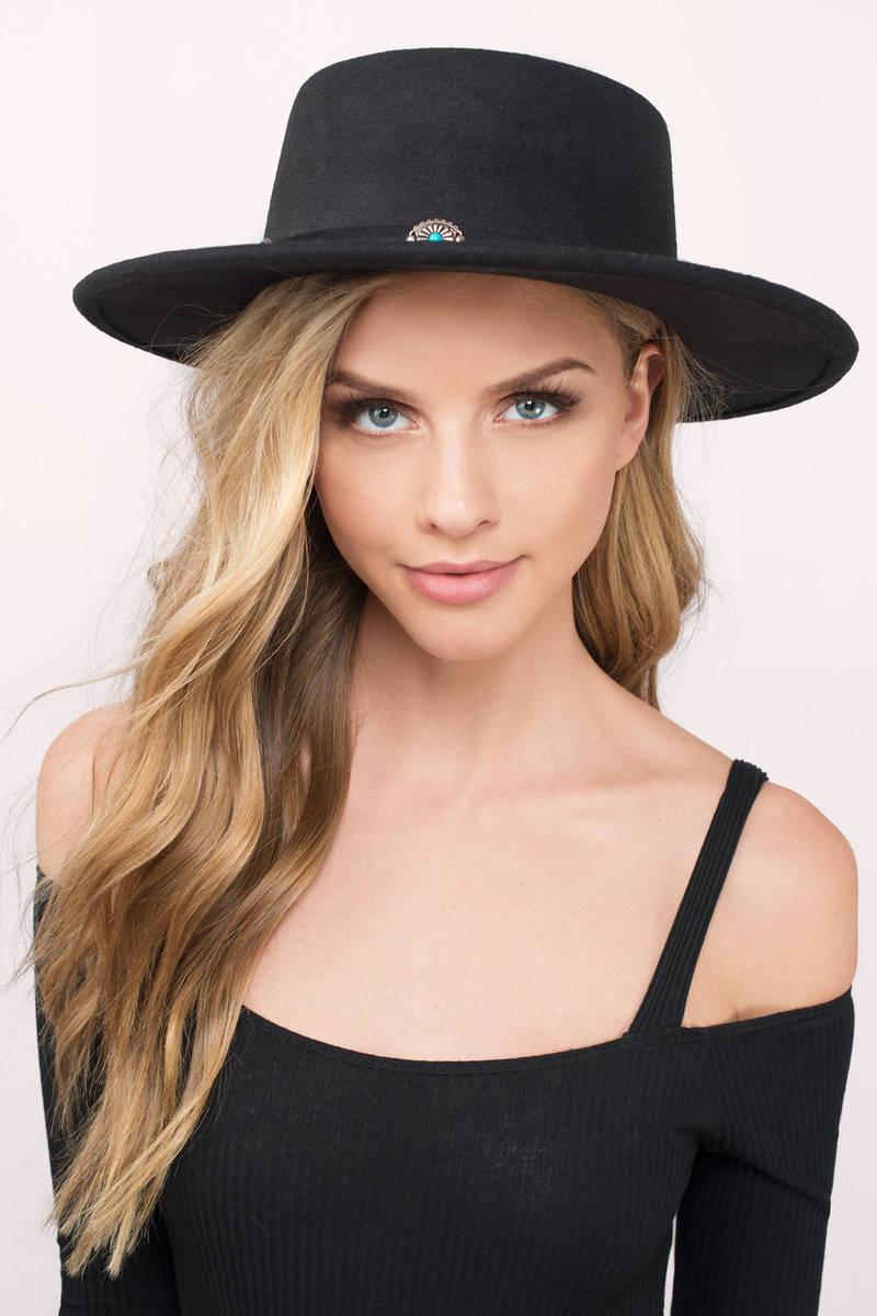 Rebecca Black Wool Panama Hat