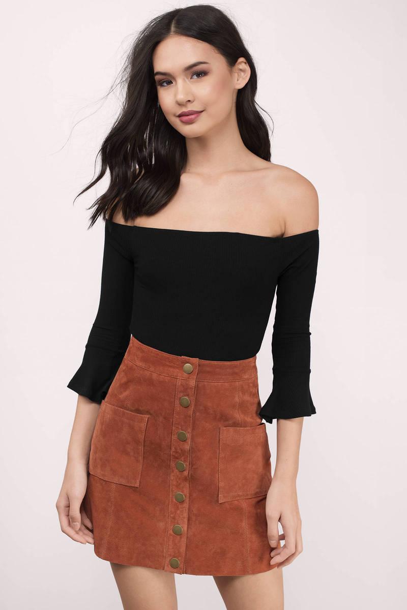 6ecf6d1e4000 Cute Black Bodysuit - Off Shoulder Bodysuit - Black Bodysuit - $50 ...