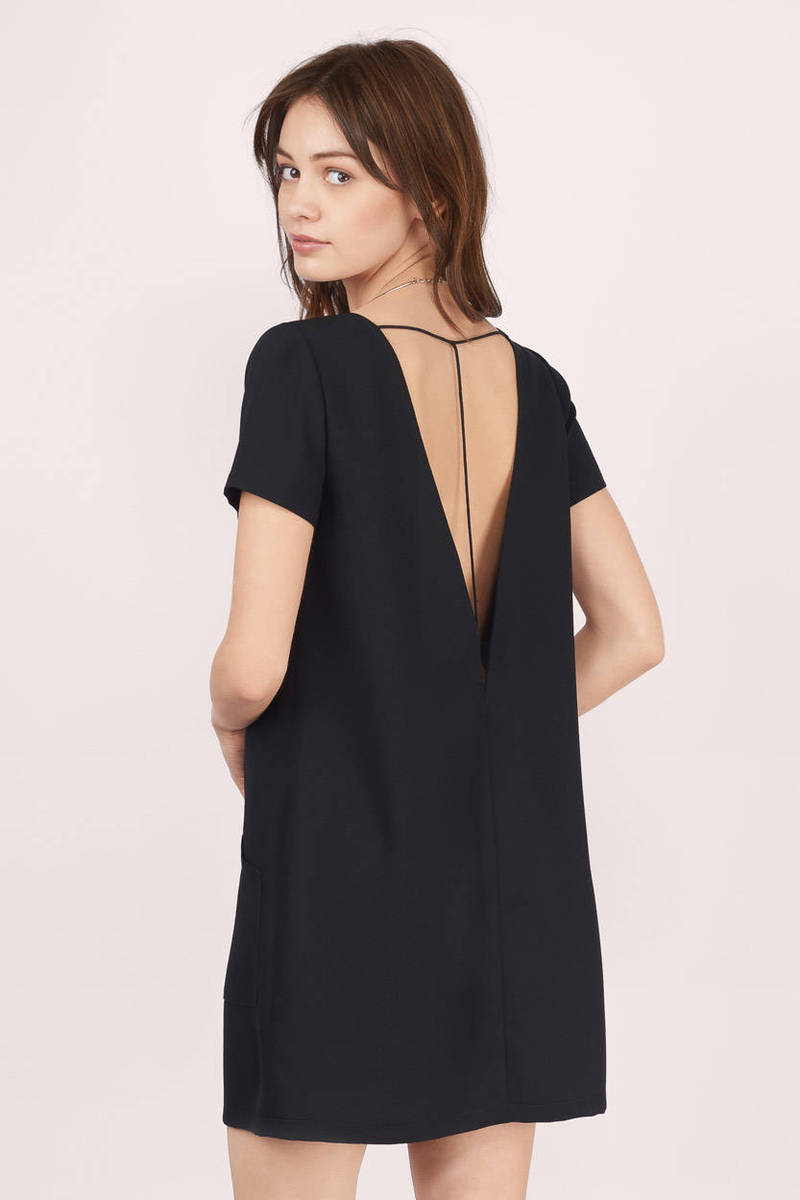 Reform Black Shift Dress