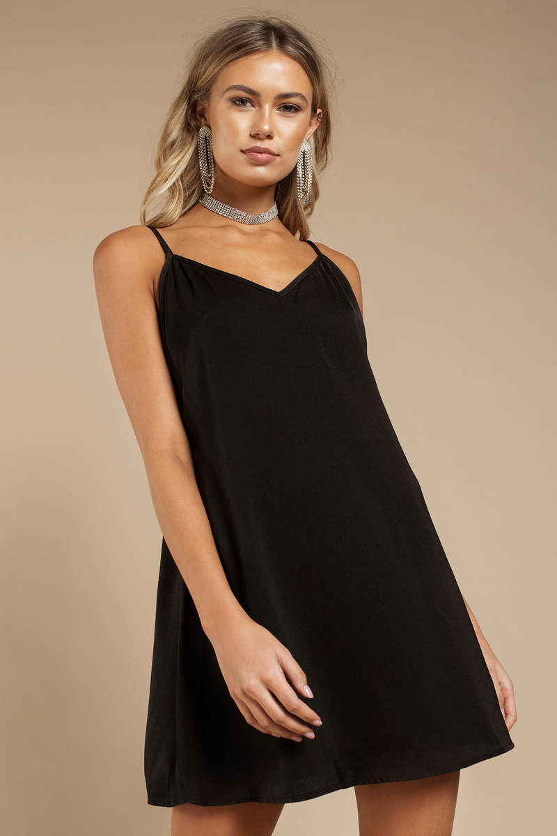 Renee Black Shift Dress