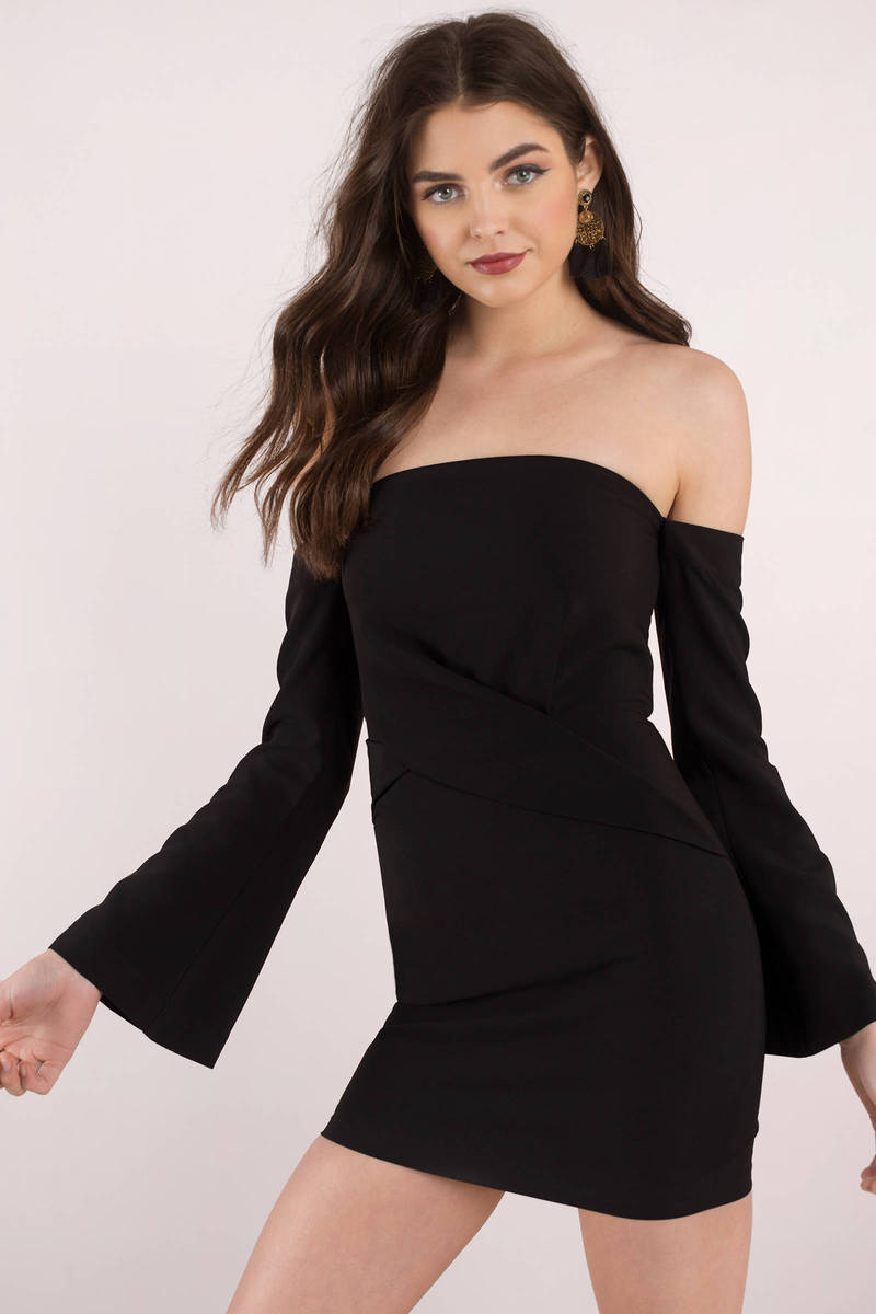 dc1d895b7f Finders Keepers Finders Keepers Revolution Black Off The Shoulder Mini Dress