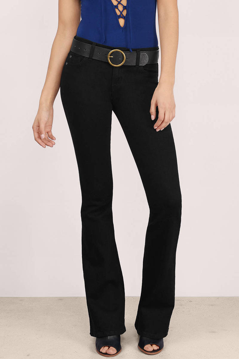 Rhiannon Black Denim Jeans