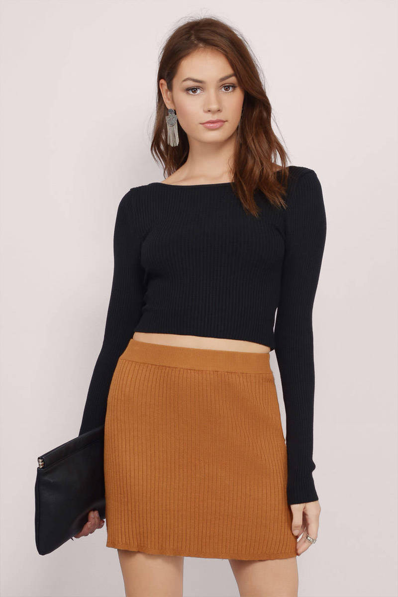 Rosana Black Crop Top