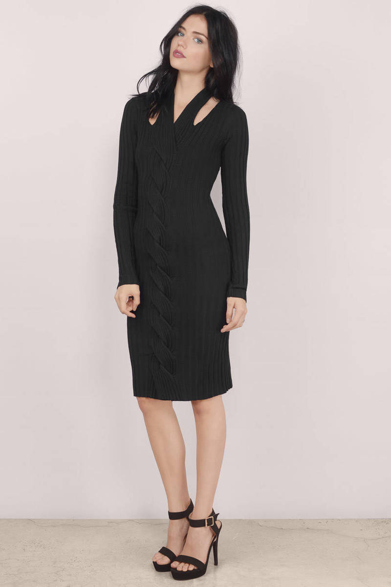 Madison Square Madison Square Roulette Black Bodycon Dress