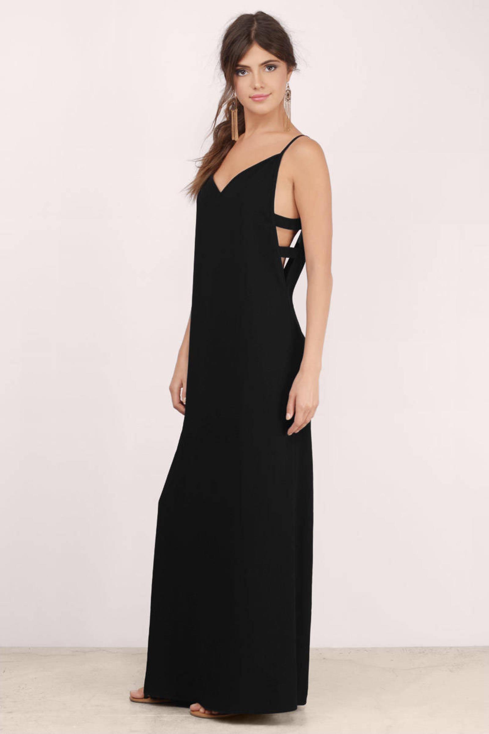 Sexy Taupe Maxi Dress - Brown Dress - Cut Out Dress - $16.00