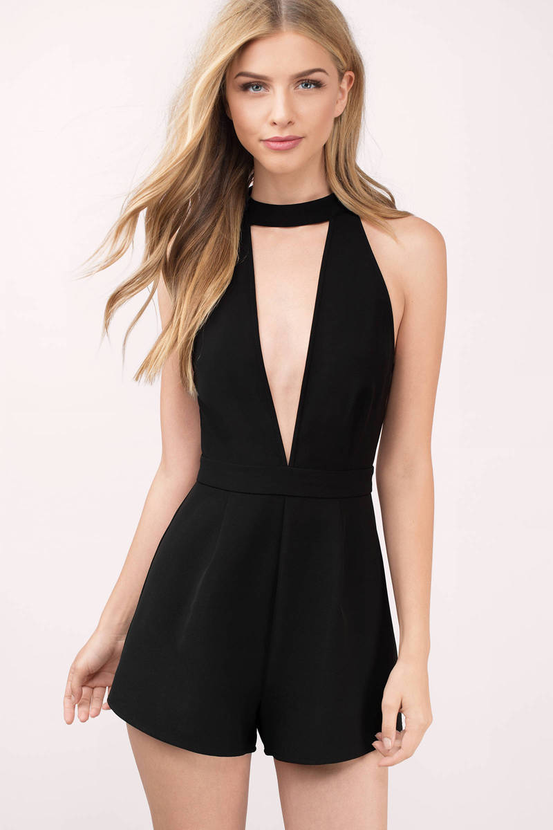 Black dress romper - Ruben Black Romper