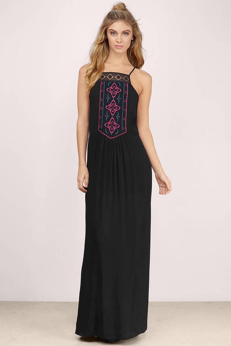 cute black dress  black dress  embroidered kaftan dress