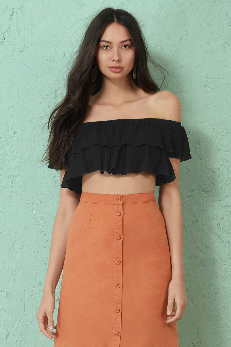 Sand In My Hair Ivory Crop Top