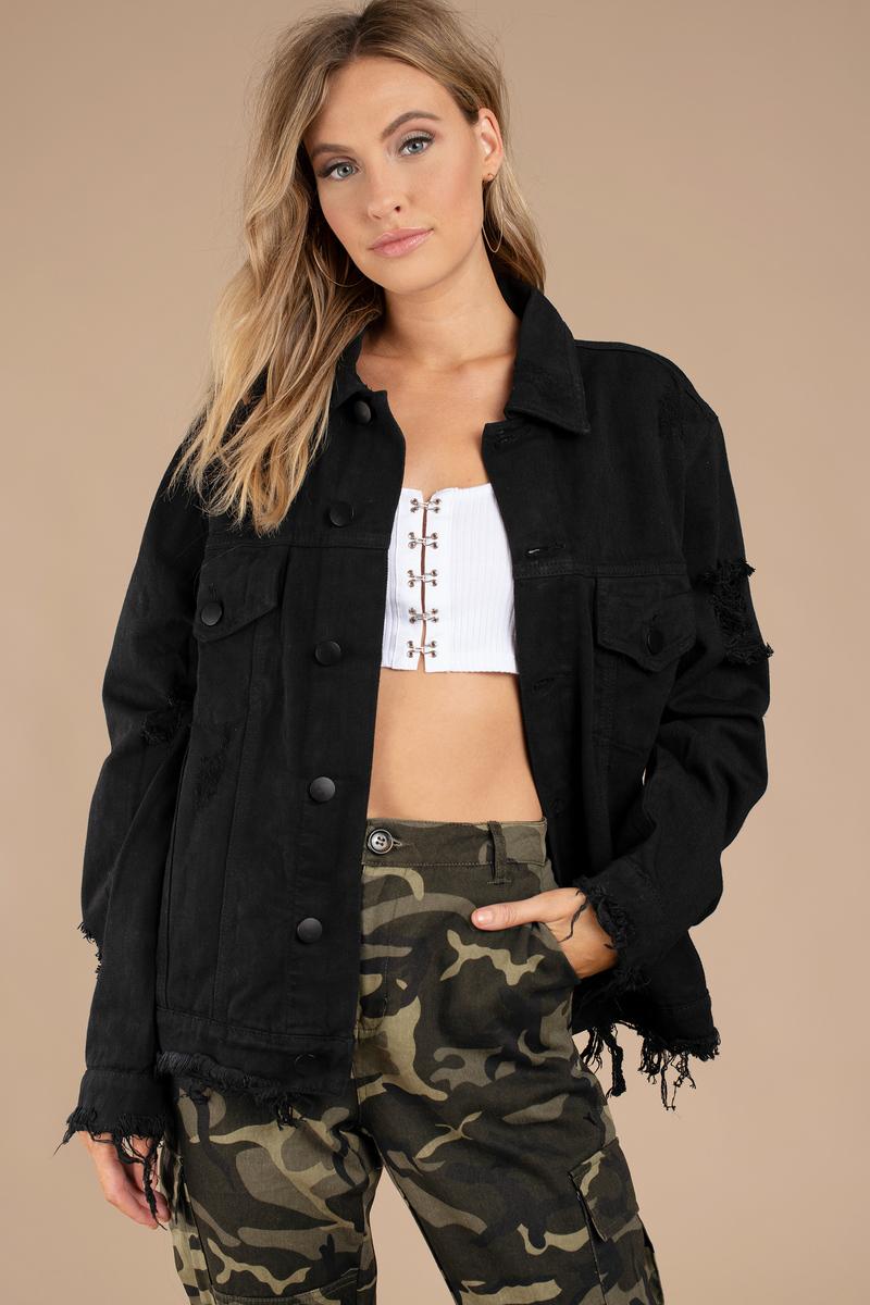 Jackets for Women   Black Bomber Jackets, Sherpa Coats   Tobi