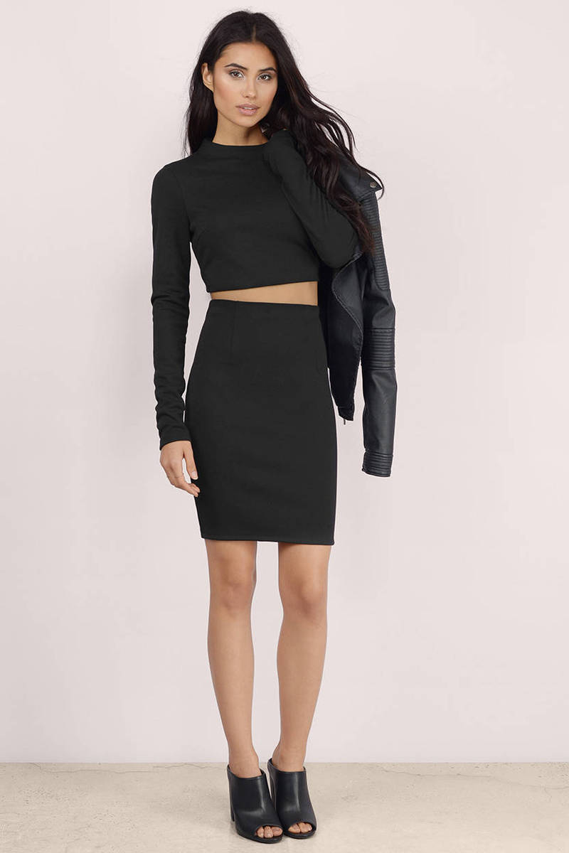 Second Glance Toast Bodycon Set
