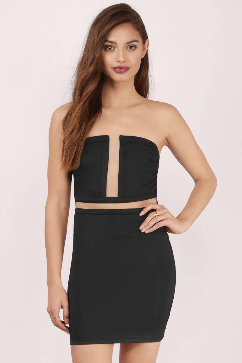 See You Soon Black Bodycon Dress