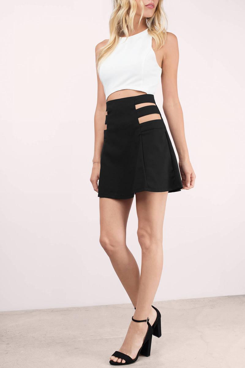 Trendy Black Skirt - Black Skirt - A Line Skirt - $11.00