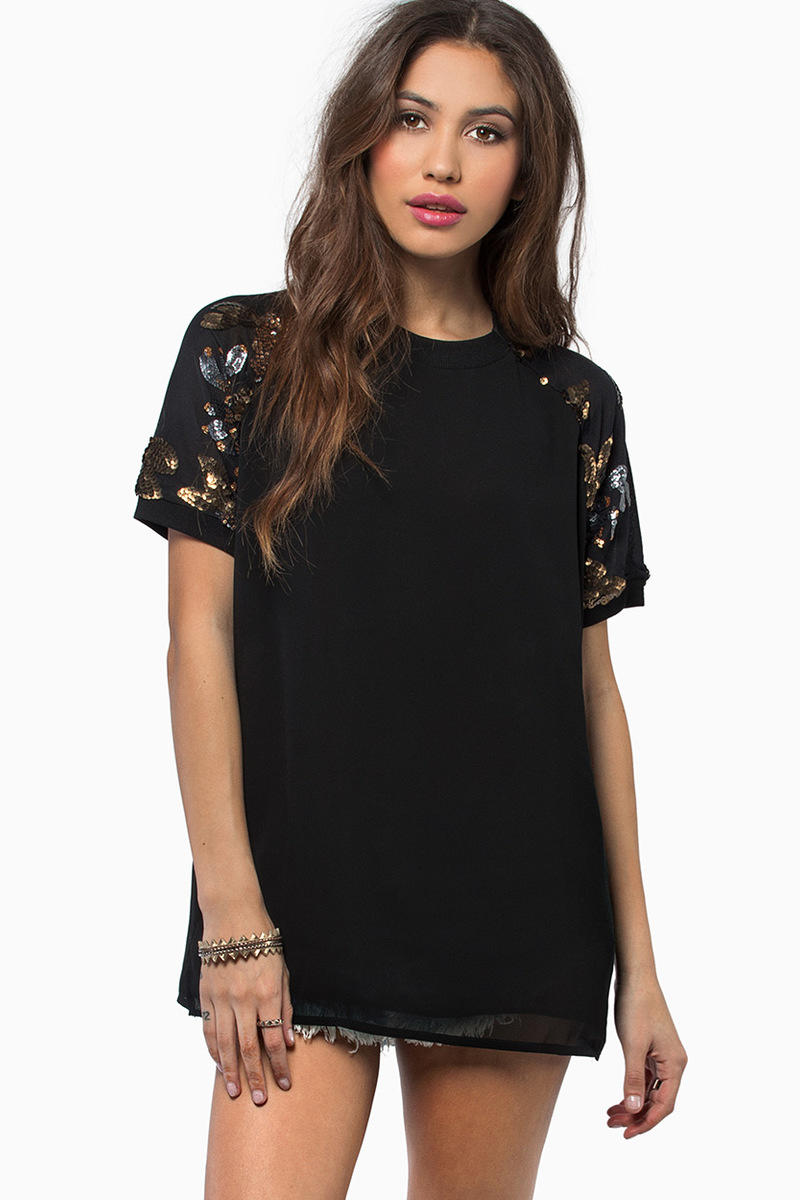 Sequined Nature Top
