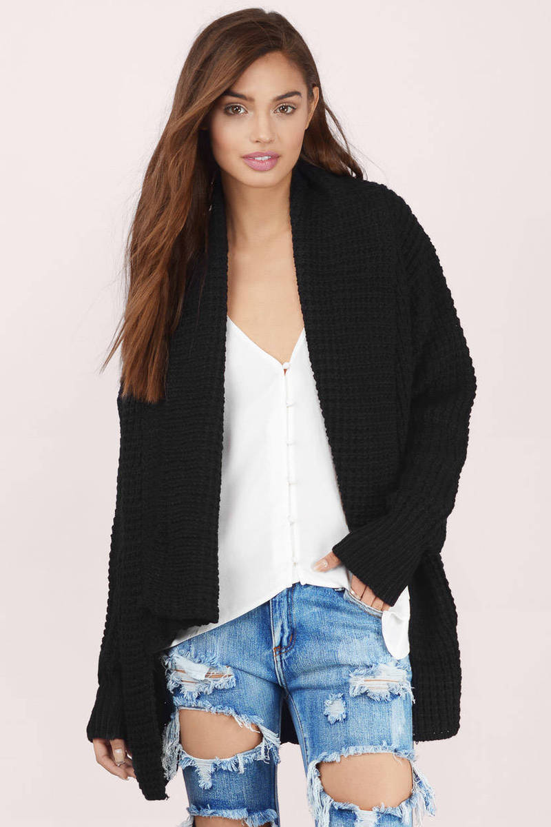 Serenity Black Knitted Cardigan