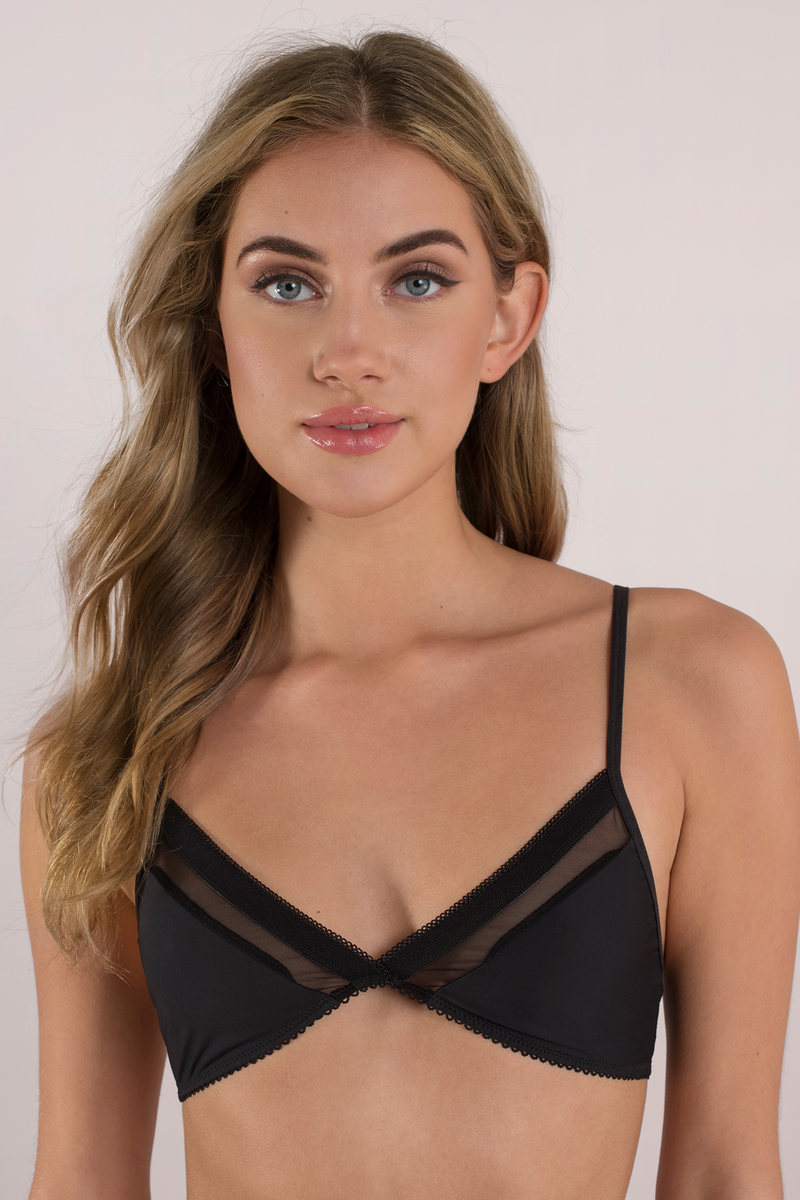 Shape Shifter Black Mesh Bralette