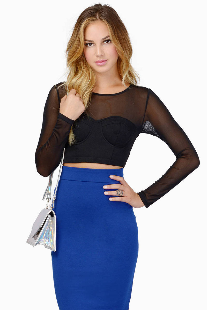 Sheer Accomplice Crop Top