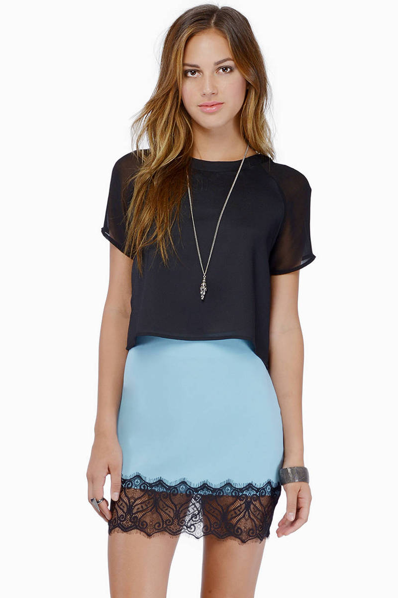 Solid long sleeve sheer crop top with scoop neck. Composed Teewanna Women's Fashion Slim Fit Lace Long Sleeve Sexy Sheer Blouse Mesh Lace Crop Top Shirt (S-XXL) by Teewanna. $ - $ $ 7 $ 17 99 Prime. FREE Shipping on eligible orders. Some sizes/colors are Prime eligible.