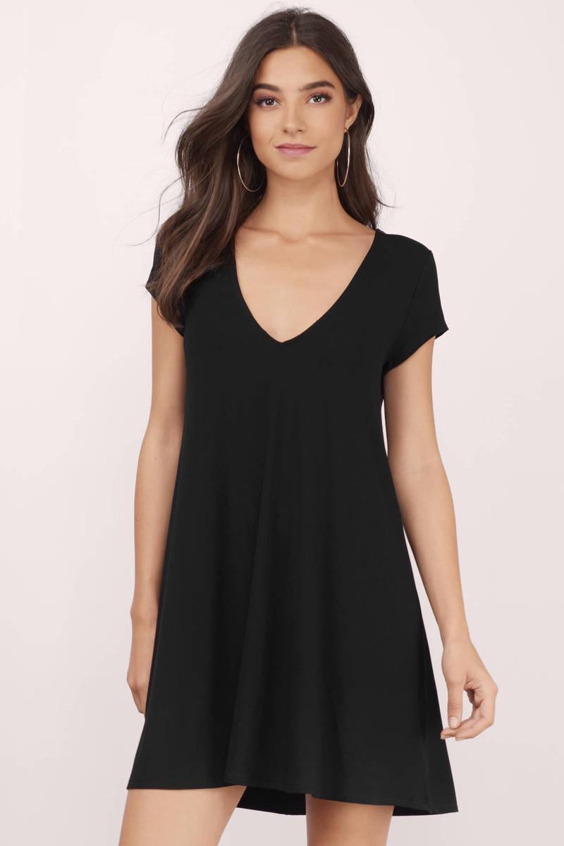 Show Me Off Black Shift Dress