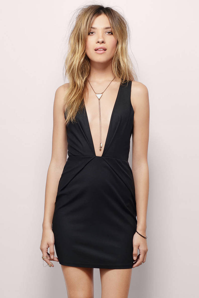 Show Not Tell Black Bodycon Dress