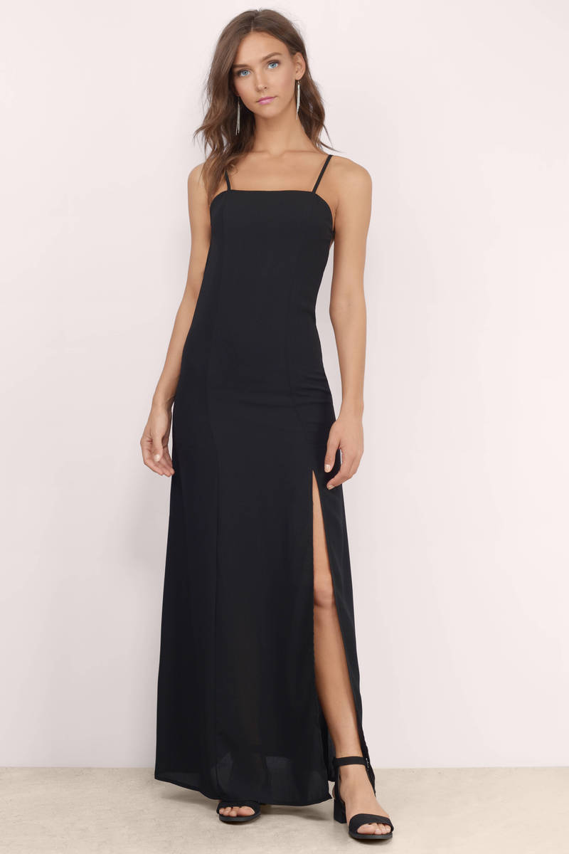 Show Em What You Want Black Maxi Dress