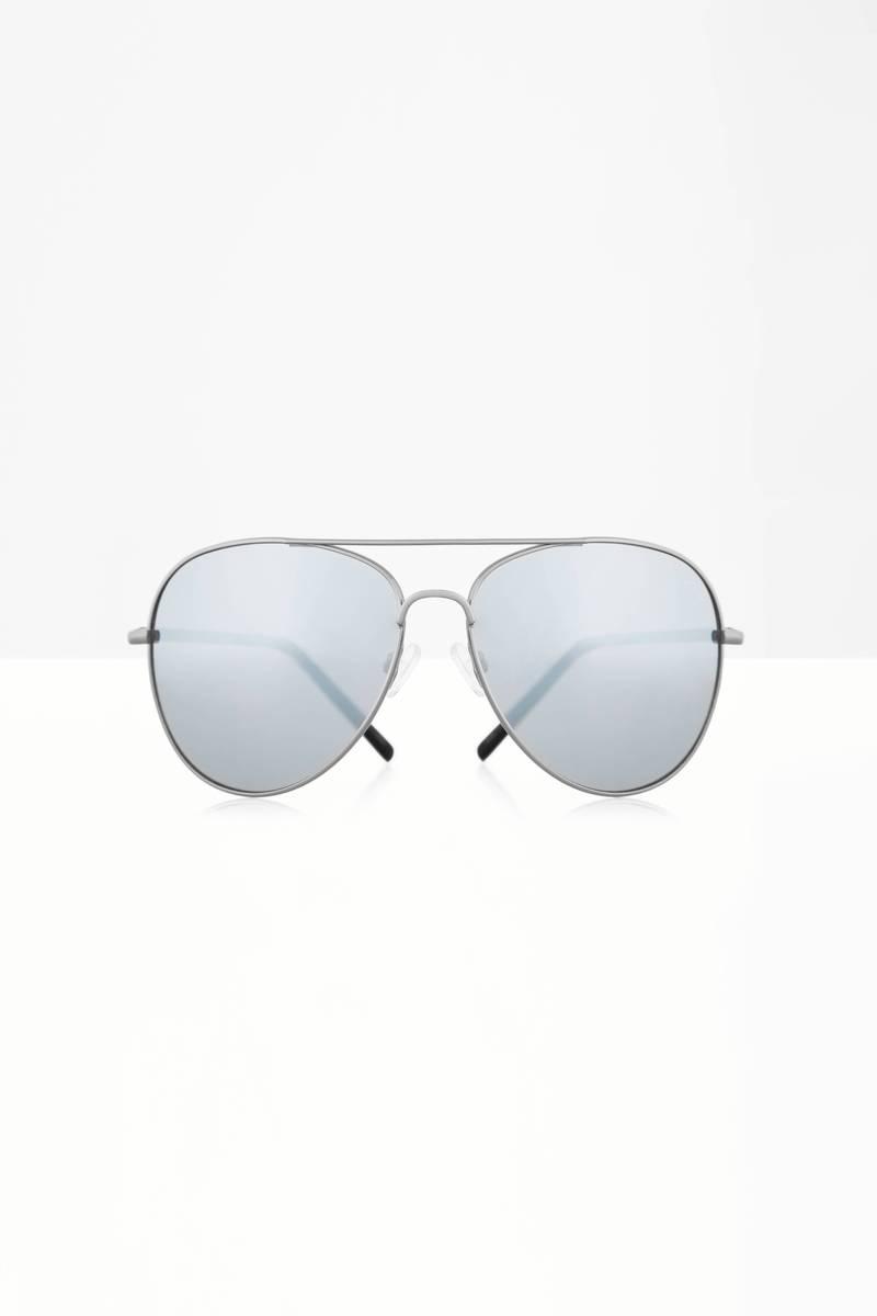 QUAY Quay Flagship Black & Silver Sunglasses