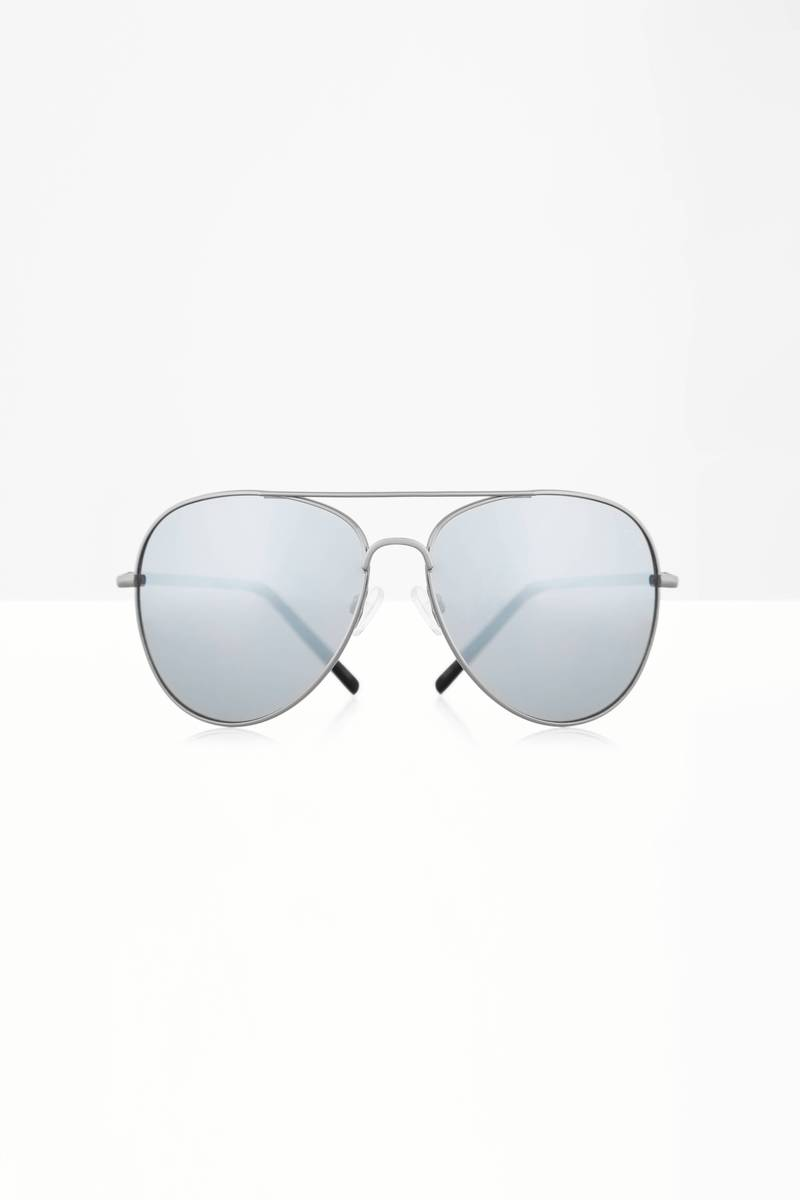 QUAY Flagship Black & Silver Sunglasses