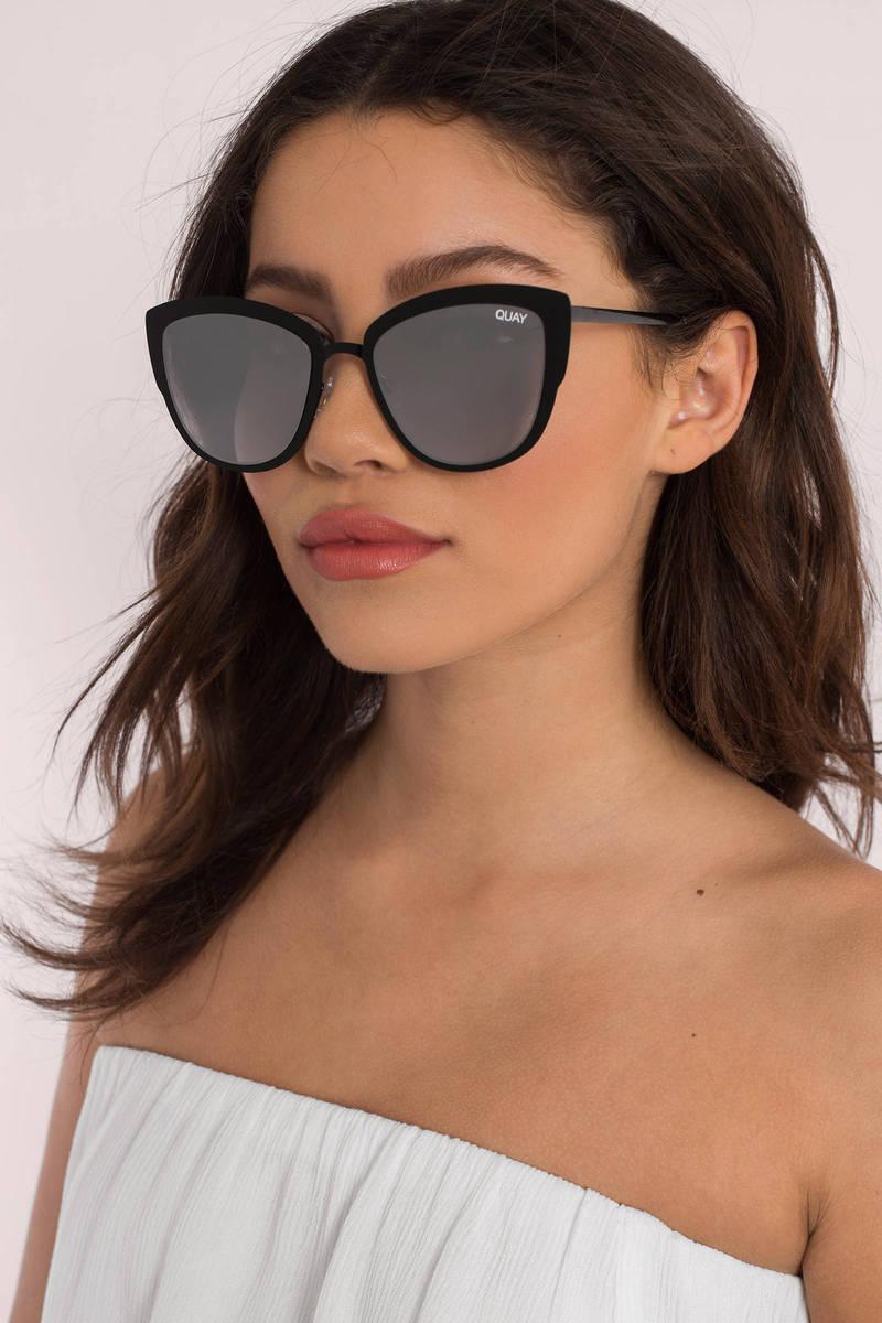 QUAY Quay Super Girl Pink & Silver Mirror Sunglasses