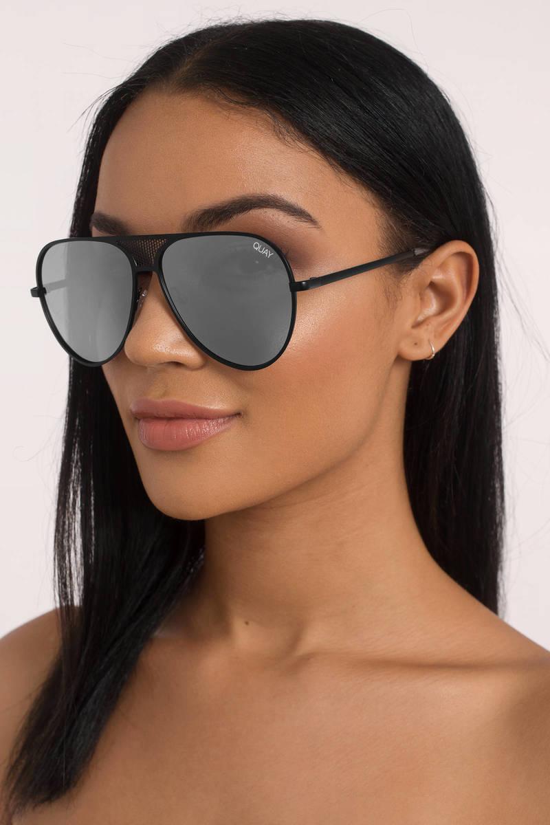 9fb94d427a Quay X Kylie Iconic Black Silver Sunglasses - C  108