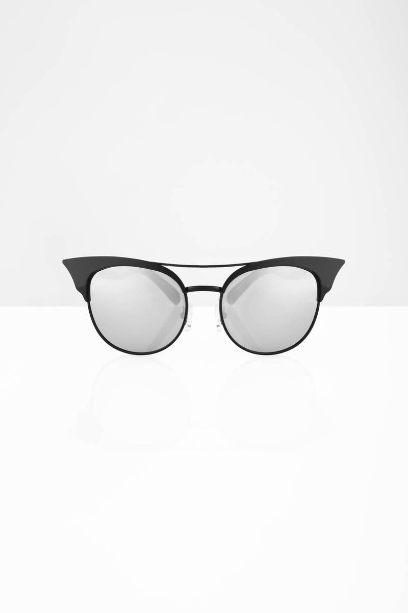 QUAY Quay Zig Black & Silver Sunglasses