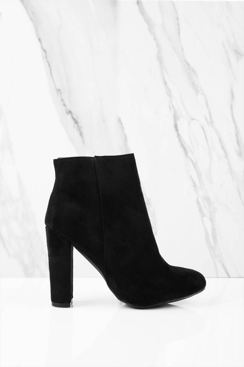 0dc58879a552 Stylish Black Boots - Party Booties - Classic Black Ankle Booties ...