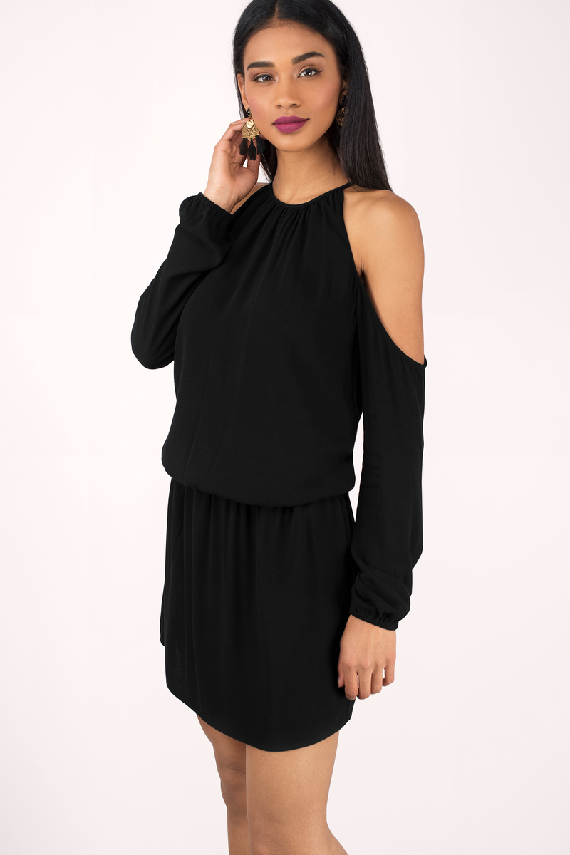 Skylar Black Gauze Dress