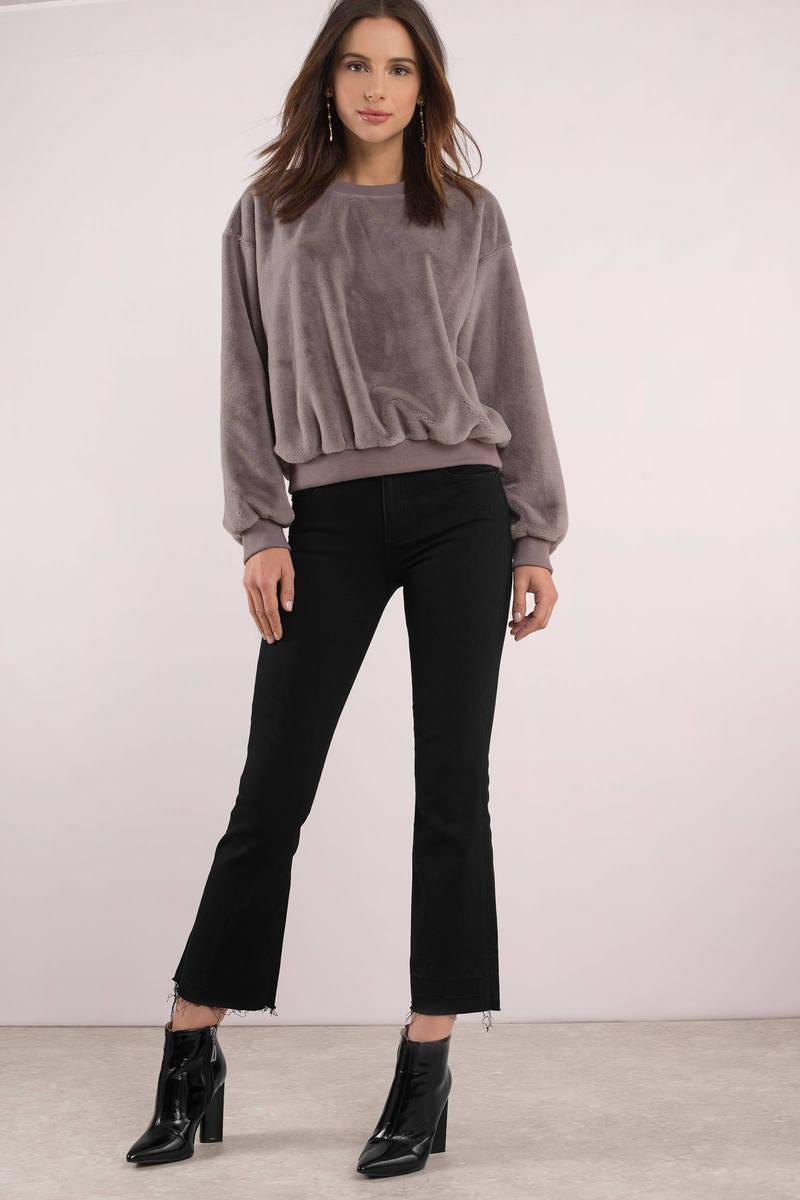 1795587dff2e Black Hidden Jeans Jeans - Flared Frayed Jeans - Black Cropped Jeans ...