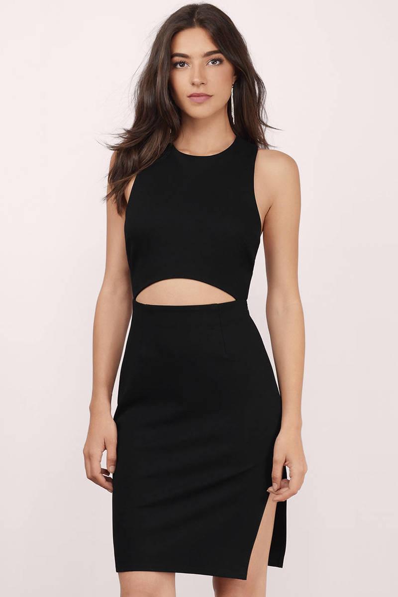 Skyline Black Midi Dress