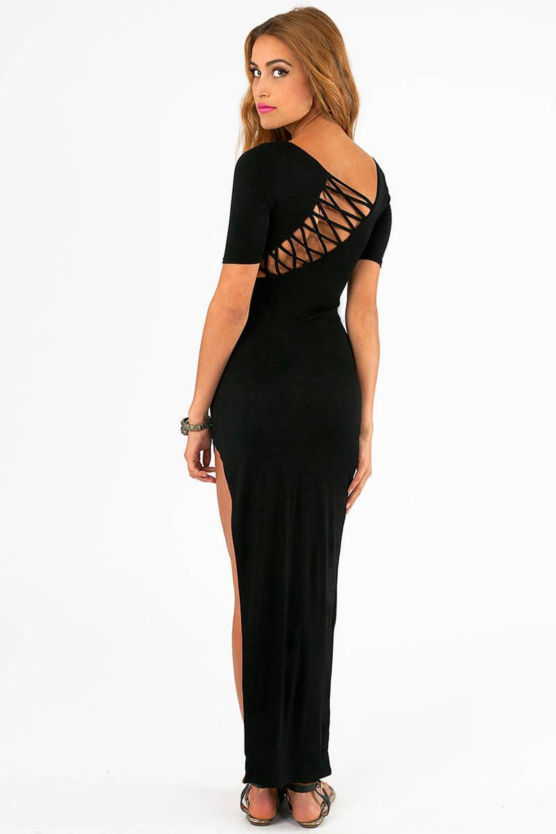 Slanted Window Maxi Dress