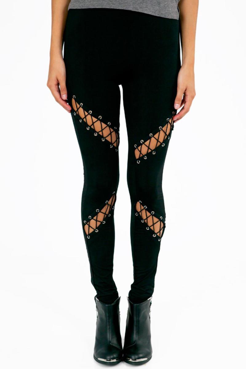 Slants and Laces Leggings
