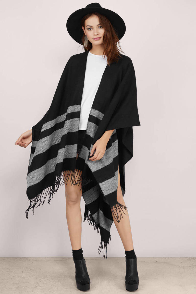 Sleepless Nights Black Striped Cardigan