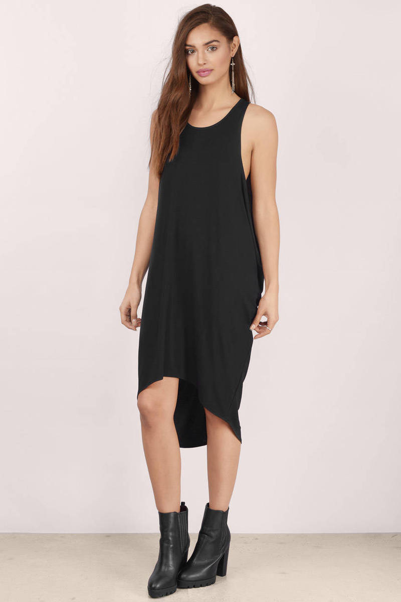Black Day Dress - Black Dress - High Low Dress - £43 | Tobi GB