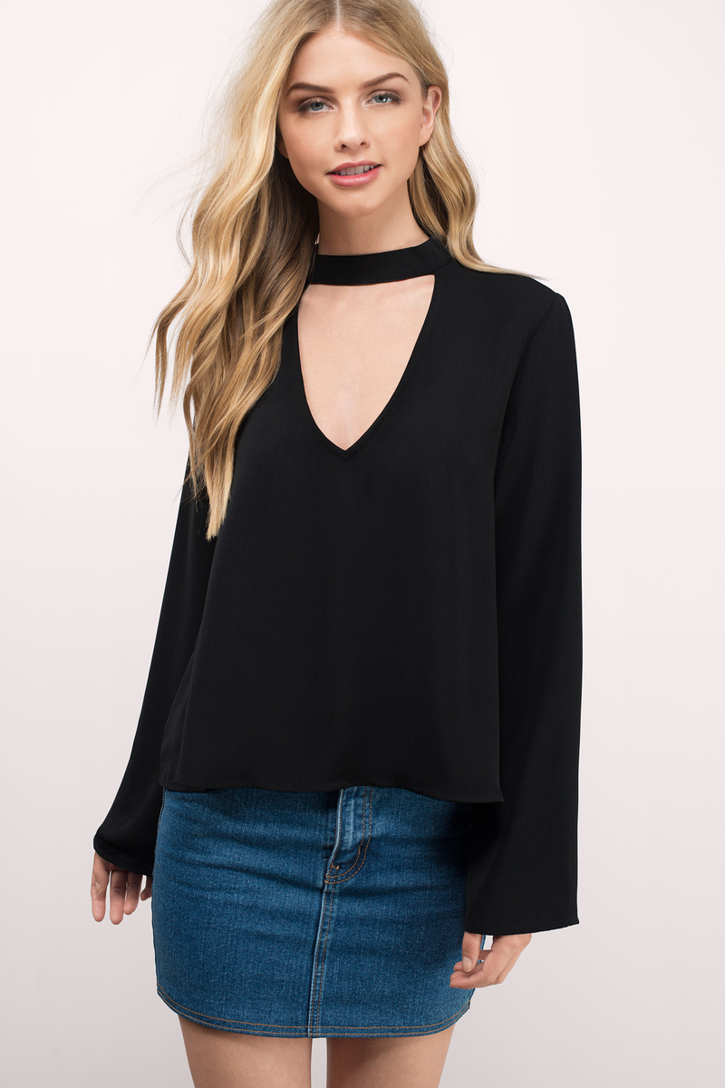 Something About You Black Blouse