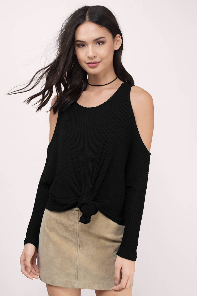 Something About You Black Knitted Top