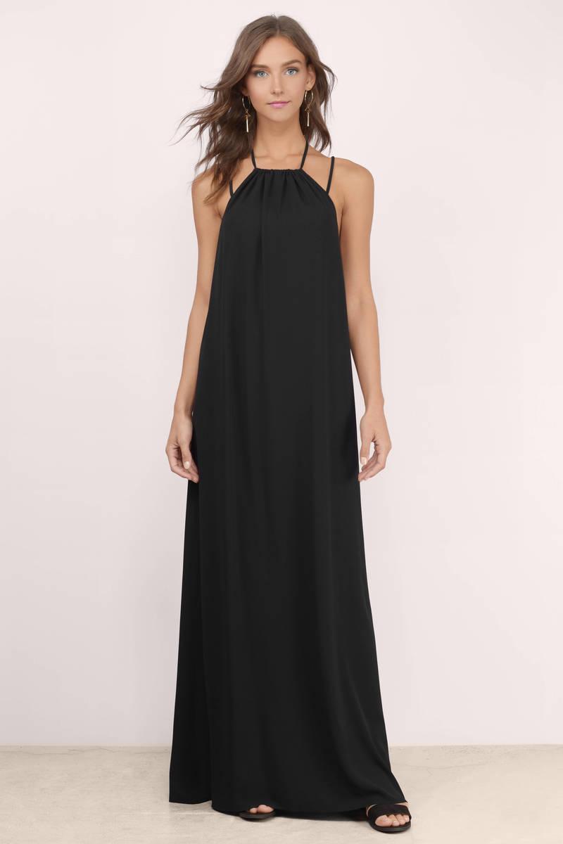 0f14597ac5 Cute Black Maxi Dress - Black Dress - Strappy Dress - Maxi Dress - C ...