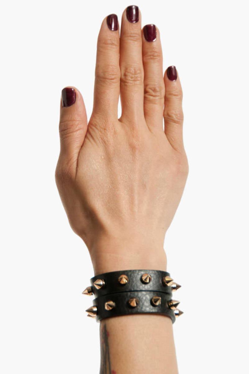 Spike Gang Wrap Bracelet