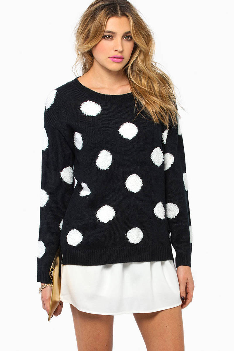 Spots & Dots Black Sweater