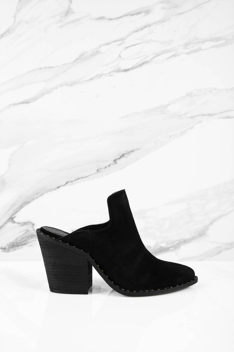 5198e68d6 Chinese Laundry Chinese Laundry Springfield Black Suede Studded Mules