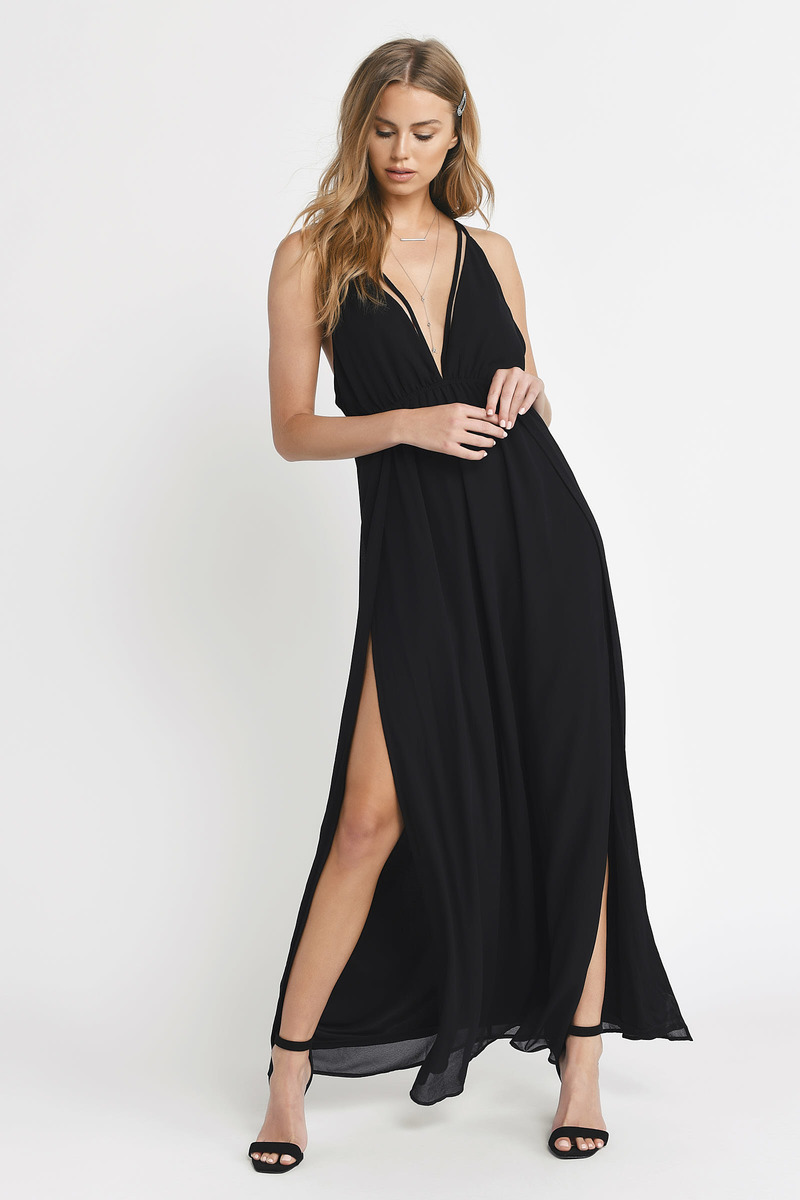 c407ed76ab448 Gorgeous Black Maxi Dress - Cami Dress - Black Flowy Maxi Dress ...