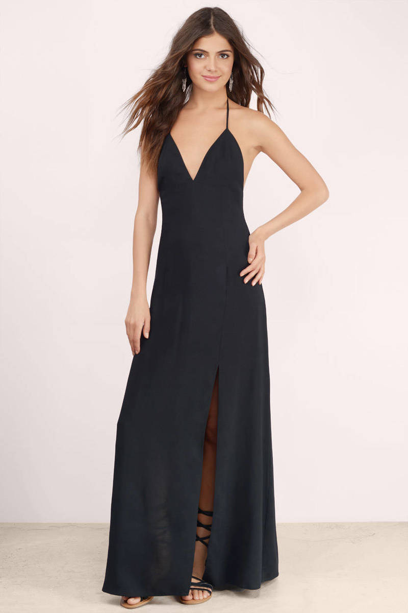 Start Again Black Maxi Dress