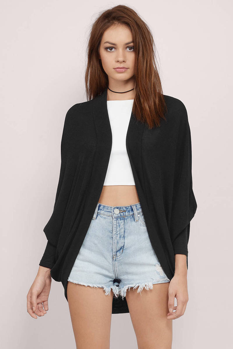 Static Kisses Black Cardigan